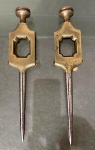 Deceased Estate Pair Vintage Brass Trammel Points 5½ Inch.