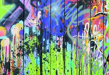 Tapete Fototapeten Tapeten Bretter Holz Graffiti Holzoptik Wandbilder 14NW1086P4