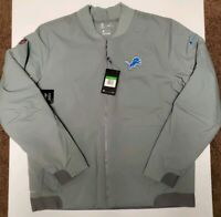 Nike Shield Detroit Lions Bomber Jacket NFL Grey AH7759-039 Men Size XL $200
