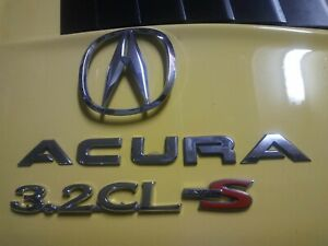 ACURA 3.2CL RED S-TYPE CHROME EMBLEMS WITH LOGO