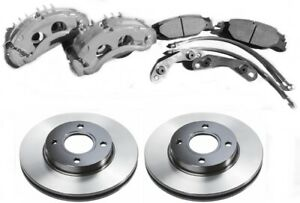 "★ Merkur XR4Ti BIG Front Brake Kit Aluminum Calipers 11"" Rotors Ford Sierra ★"