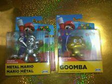 Super Mario Exclusive JAKKS Pacific (1) Goomba and (1) Metal Mario NIP