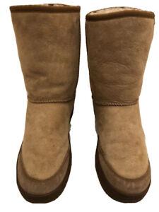UGG AUSTRALIA 5275 ULTIMATE SHORT SAND/BEIGE SHEEPSKIN WINTER BOOTS WOMENS SZ. 9