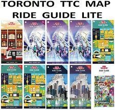 TTC 🚌🚇 Ride Guide Lite Map 2016-20 Toronto Downtown Subway Bus Streetcar Tram