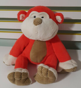 RED MONKEY  PLUSH TOY! SOFT TOY ABOUT 30CM TALL SEATED! ANIMAL ADVENTURE