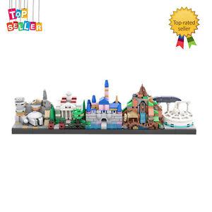 Iconic Theme Park Architecture Skyline Style MOC-34077 535 Pieces Bricks for Kid