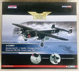 Corgi Aviation AA38801: DORNIER DO-17Z STAFFEL 1 KG76 - FRANCE 1940 Mint in Box