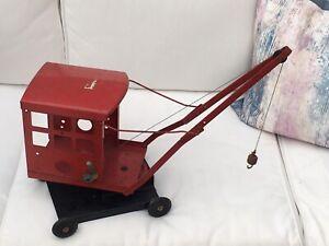 Vintage Tri-ang Tin Plate Crane