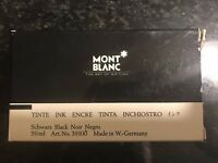 Mont Blanc 50ml TINTE INK ENCRE TINTA Glass Inkwell INCHIOSTRO Vintage Germany