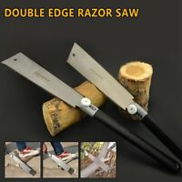 "9-1/2""Double Edge Razor Saw Japanese Ryoba Style Pull Saw 14 / 9 Teeth"