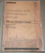 Cat Caterpillar 140h 160h Motor Grader Operation Amp Maintenance Manual