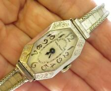 VINTAGE 15J LADIES WALTHAM ART DECO WATCH W WGF ENGRAVED CASE