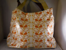 FR Steve Madden FALL Colors MOD Retro Graphic Print Coated Canvas XL Tote Bag