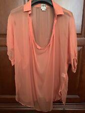 Haute Hippie Orange Silk Blouse size M