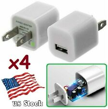 4-Pack Smart Charger 5V 1A USB Power Adapter for iPhone 6 7 8 / Samsung / LG