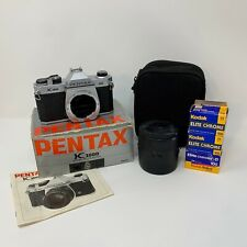 Pentax K1000 35mm Slr Film Camera With Lens, Box, Accessories, Great Condition