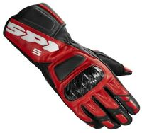Spidi STR 5 Motorcycle Race Leather Suede Carbon Gloves Red/Black