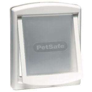 PetSafe Staywell Original 740 Medium Dog Flap Pet Door Easy 2-Way Locking, White
