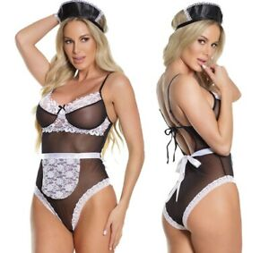 Coquette Waitress/French Maid Outfit Fancy Dress Teddy/Body Set Costume