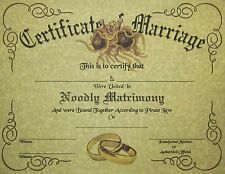 FSM Marriage Certificate Parchment: Pastafarian Flying Spaghetti Monster Wedding