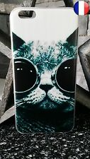 ★★★ Coque Plastique Rigide Housse Etui Apple IPHONE 6 PLUS - Chat Lunette ★★★