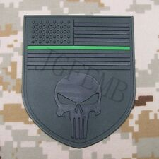 The thin green line Federal Agents  Punisher american flag 3D PVC Patch