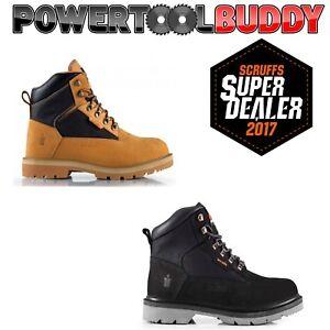 Scruffs TWISTER Safety Hiker Work Boots Black/Tan (Sizes 7-12) Steel Toe Cap