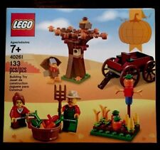 Lego Thanksgiving Harvest #40261 Building Toy Farmer Crops Turkey Wagon Holiday