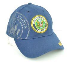 Stati Uniti Militare USA Blu Navy Regolabile Poliestere Cappello Curvo a Becco