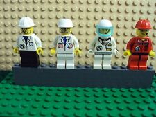 Lego Minifig ~ Mixed Lot Of 4 Space Shuttle Team Ground Crew Astronaut Port #1ar