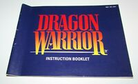Dragon Warrior (Instruction Manual Only) Nintendo NES Fast Shipping