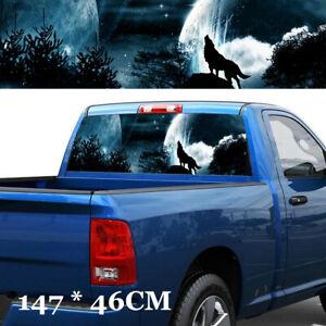 Wolf Howling Sky Galaxy Vinyl decal sticker For Car/Truck Rear Window Custom