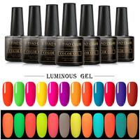 T-TIAO CLUB Fluorescent Neon Luminous Gel Nail Polish UV Soak Off Manicure 8ML