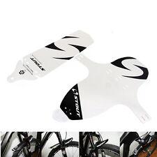 Bicicletta Bici MTB Anteriori Posteriore Bianca Parafanghi Paraspruzzi Fender