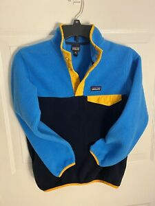 Patagonia boys size 10 M synchilla pullover fleece jacket Commonthreads Recycle