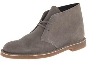 Clarks Men's Bushacre 2 Boot's Grey Suede,7.5 M