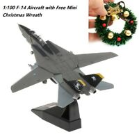 1/100 Scale Diecast Metal   F-14 Fighter Aircraft Model Display Stand