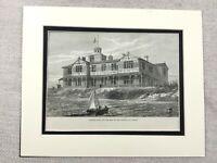 1882 Print Ostend Belgium Belgian Royal Villa Mariakerke Antique Original