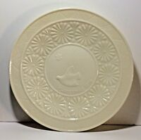Belleek 1976 limited Edition Dove Star China Christmas Plate Ireland Ivory Dish