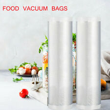 Kitchen Food Vacuum Storage Bags For Sealer Packaging 8' x 50' Rolls Clear