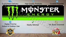 Monster Energy Drink Banner 2x8ft Flag Racing Car Garage Wall Shop Man Cave Sign