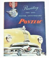 1951 Pontiac Silver Anniversary Chieftain Catalina Streamliner Sales Brochure