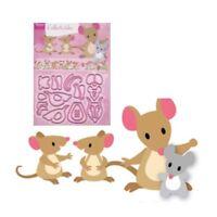 Eline's Mice Family Metal Die Cut Set Marianne Cutting Dies COL1437 Mouse Animal