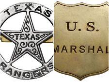 Denix Texas Ranger US Marshal Shield Badge Brooch Police Sheriff Western Army