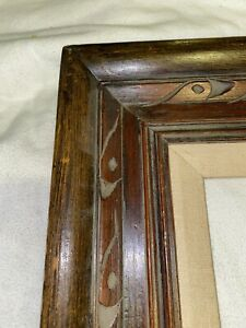"""Hand Carved Wooden Picture Frame For 20"""" X 24"""" Outside 32 1/2 X 28 1/2 Mexico"""
