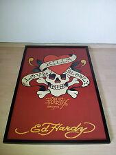 Ed Hardy - Love kills slowly (Ed Hardy: 15697) Bild inkl. schwarzem Rahmen
