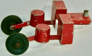 VINTAGE ERTL RED HARVESTER TRACTOR IMPLEMENT ACCESSORY MADE IN U.S.A.