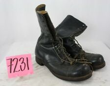 WW2/VIETNAM BLACK US COMBAT BOOTS SIZE 10