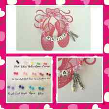 Personalised Ballet Theme Name Bracelet-Any Name-Many Colours to Choose From