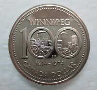1974 CANADA WINNIPEG CENTENARY PROOF-LIKE ONE DOLLAR COIN